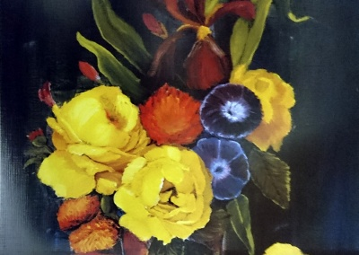 Grabado Arreglo floral 4/26
