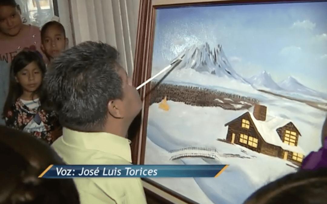 José Luis Torices en la exposición de Creando Artistas
