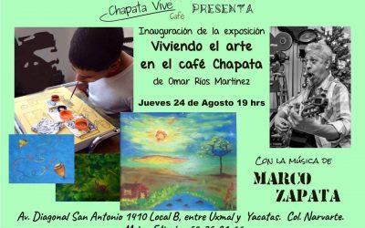 Viviendo el arte en el café Chapata