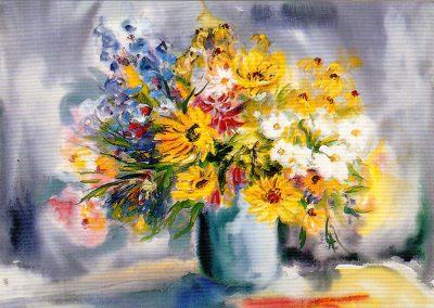 EP826 Jarrón con flores