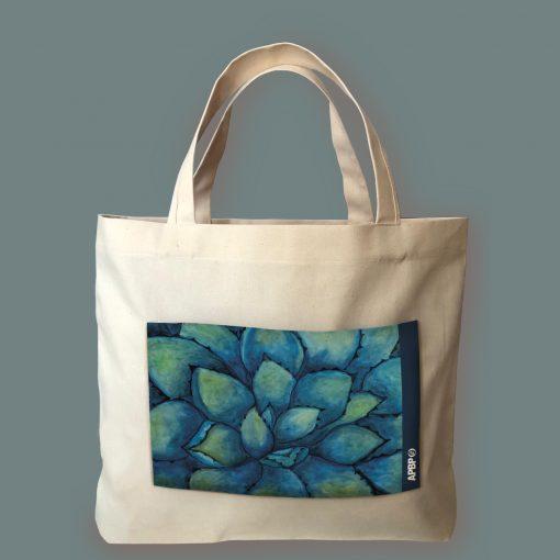 Bolsa artesanal de manta - Colección Agave Azul