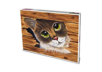 """""""Mi gato"""" José Antonio Rodríguez Caldeira / pintor con la boca"""
