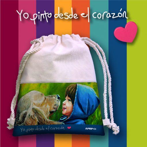"""Mochila para niños y niñas Colección """"Yo pinto desde el corazón"""""""